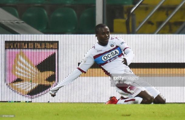 Christian Kouamé tras marcar al Palermo / Foto: gettyimages