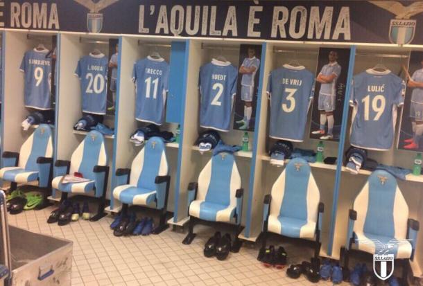 Lo spogliatoio della Lazio - Foto Lazio Twitter