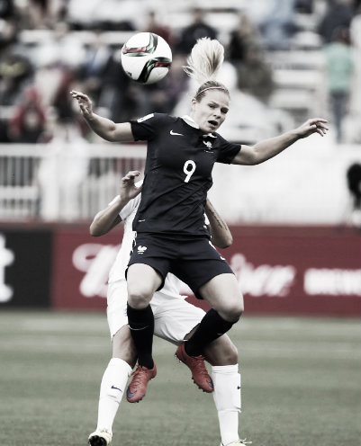 Eugenie Le Sommer against England at the 2015 FIFA Women's World Cup. Photo: Getty Images