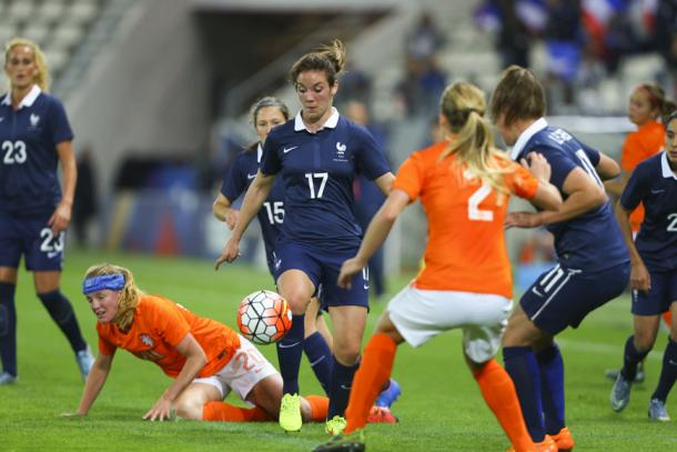 Le Bihan has already shown her class in the top flight of French football, and with her country. (Photo: Montpellier HSC)