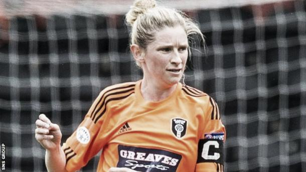 Glasgow City's captain Leanne Ross. Photo SNS/BBC