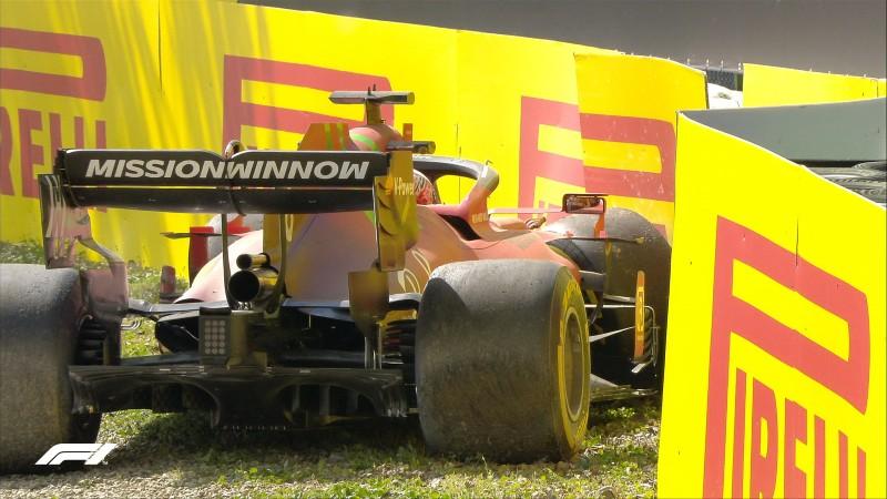 Accidente de Leclerc. Foto: F1