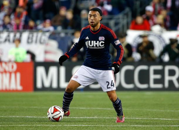 New England Revolution's Lee Nguyen will have to be the man operating the attack on Saturday against D.C. United. Photo provided USA TODAY Sports.