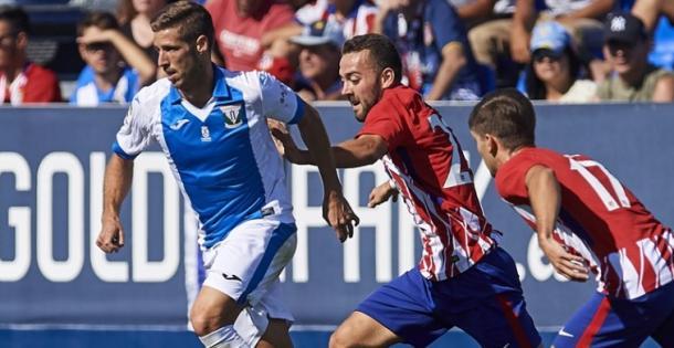 Partido entre el CD Leganés y Sporting de Gijón, la temporada pasada. Fuente: CD Leganés