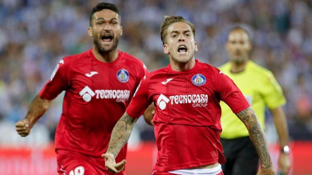 La gioia del Gefafe dopo l'1-2 al Leganes.   Fonte immagine: Telemadrid.es
