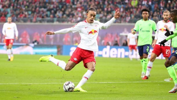 Poulsen, figura del inicio de temporada del Leipzig | Foto: @DieRotenBullen