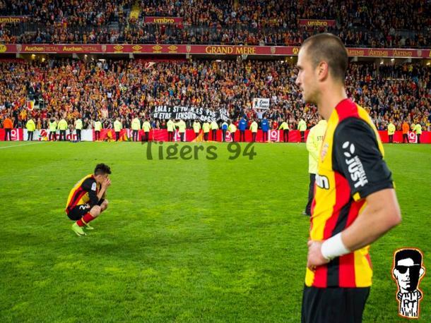 Oui Lala risque bien de quitter le Racing Club de Lens. Image Facebook RT94
