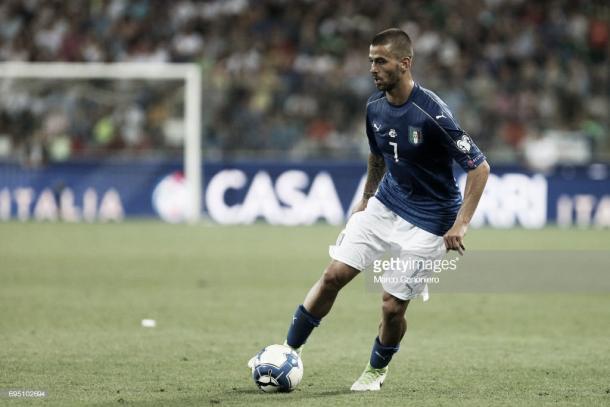 Imagen de Spinazzola en un encuentro con la selección italiana. Foto: gettyimages.com
