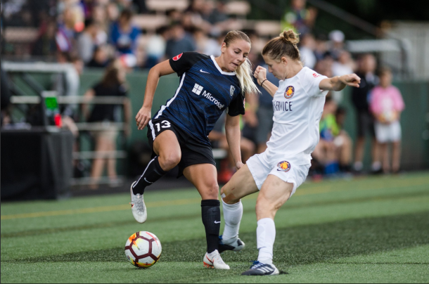 Adriana Leon (left) could be an important part of the Seattle Reign FC attack with so many players missing from the upcoming match. | Photo: isiphotos.com