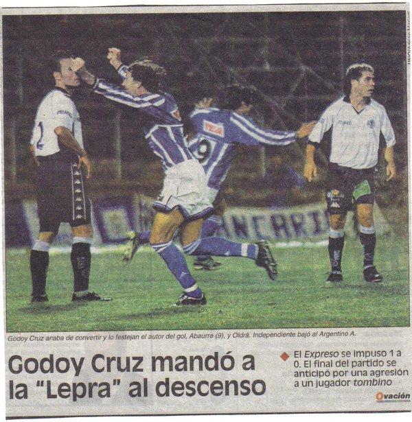 El Tomba hacía descender a Independiente. Foto: Ovación.