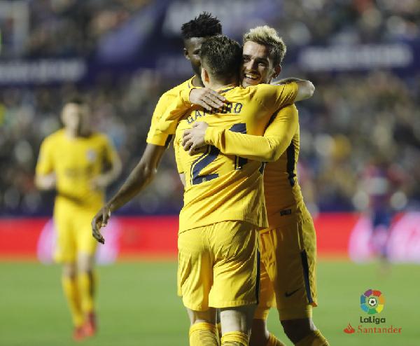 Antoine Griezmann la estrella colchonera. | Foto: La Liga