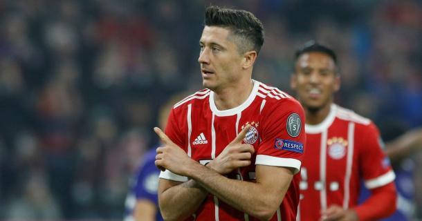 Lewandowski ha aperto le marcature su rigore contro l'Anderlecht | www.mirror.co.uk