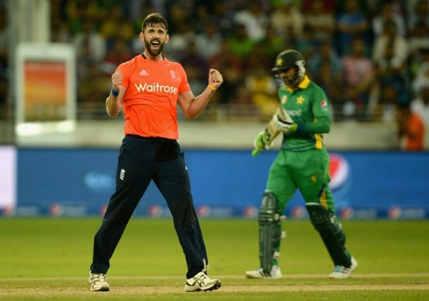 Liam Plunkett in action against Pakistan in the T20 series in the UAE