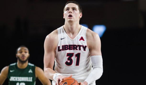 James is Liberty's do-everything player, helping the Flames to a school-record 25 wins/Photo: Atlantic Sun athletics website