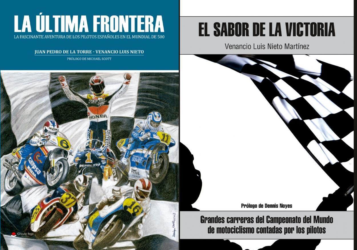Libros de Venancio Luis Nieto. Foto: motogp.com