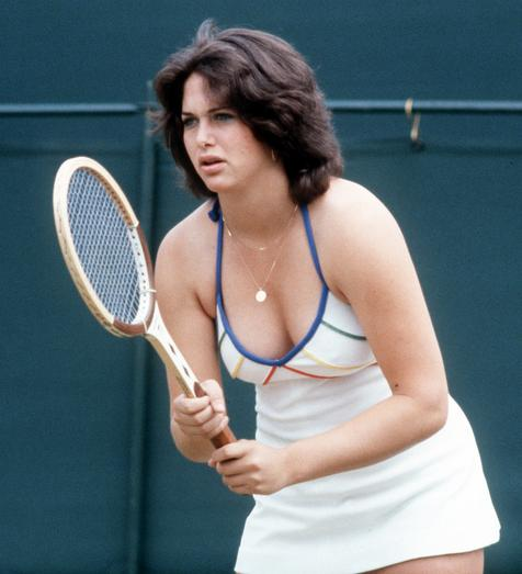 Linda Siegel regretting her choice of attire | photo: Mens Tennis Forums