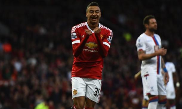 Jesse Lingard celebrates Delaney's early own goal | Photo: Laurence Griffiths / Getty images sport