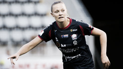 Linköpings' Fridolina Rolfö scored the winner. Photo: svenskfotboll.se/damallsvenskan