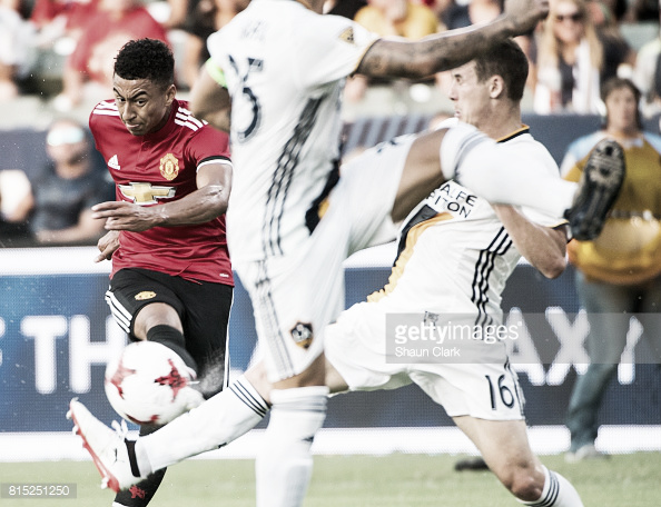 Jesse Lingard in action against LA Galaxy (Photo: Shaun Cook / Getty Images)