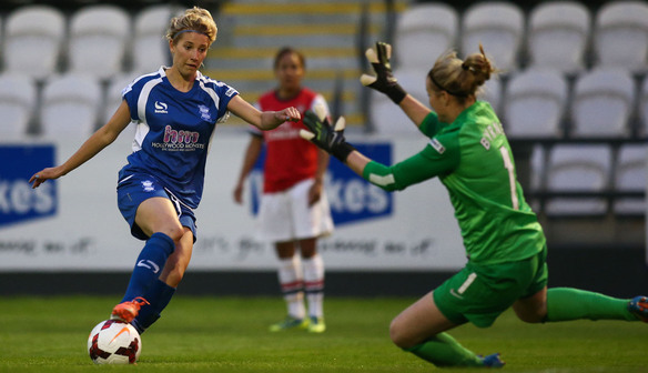 Linnett in action against her former team Arsenal Ladies FC (Source: Birmingham City Ladies FC)