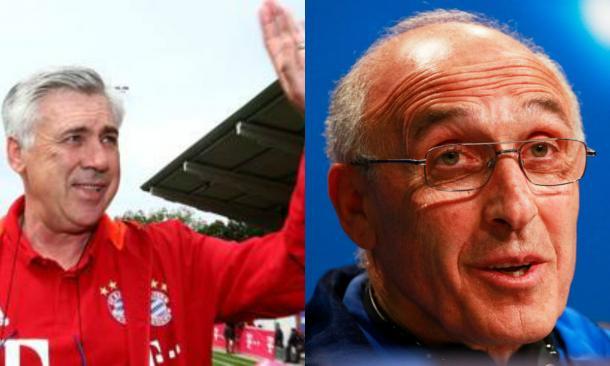 A sinistra, Carlo Ancelotti, allenatore del Bayern. A destra, Ivan Daniliants, allenatore del Rostov.   Google, VAVEL.com.