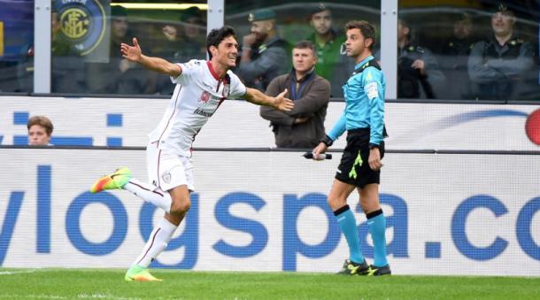 Melchiorri propizia la rete dell'1-2 sull'Inter ed esulta come mai. | Corriere dello Sport.