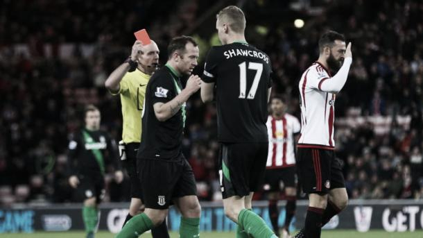 Ryan Shawcross' red card was a pivotal point in the reverse fixture. (Photo: Livesoccer888.com)
