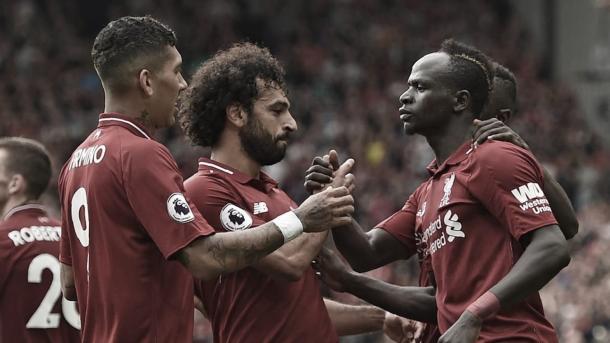 El tridente del Liverpool./ Foto: Premier League