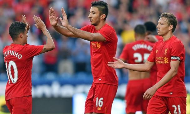 Grujic celebrates his opening goal at Huddersfield. (Picture: Getty Images)