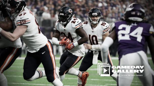 Los Bears corrieron por 169 yardas mientras que secaron a los Vikings en 63 yardas de carrera | Foto: ChicagoBears.com