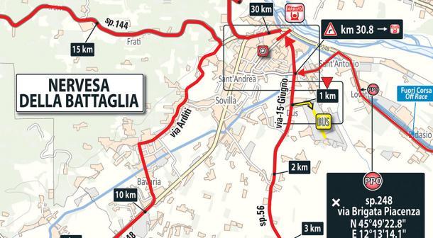 Llegada etapa 13 Giro de Italia: Ferrara - Nervesa della Battaglia | Foto: Giro de Italia