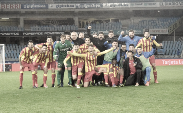Euforia catalana tras el pase en Anoeta | Lleida Esportiu