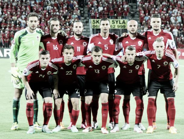 Albania striving to upset the critics on their first European outing l Photo: uefa.com