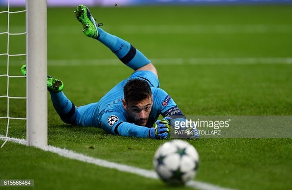 Lloris with a brilliant save against Bayer Leverkusen (Photo: Getty images)