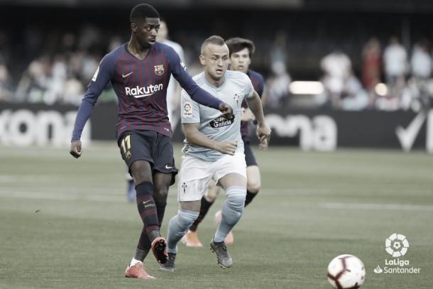 Lobotka en el partido ante el Barcelona FUENTE: LaLiga