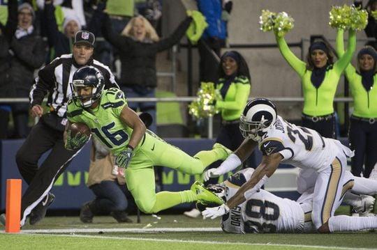 Tyler Lockett scores touchdown for Seahawks. | Photo: USA Today Sports