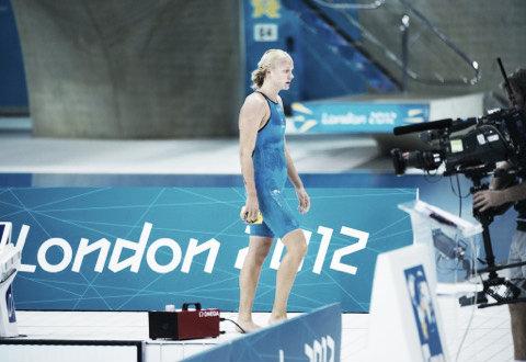 Sjöström después de nadar la semifinal de lo 200 mariposa / Foto: Joel Marklund