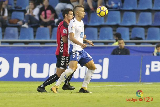 Longo estuvo peleón. Fuente: www.laliga.es