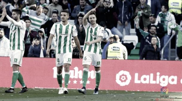 Loren celebrando un gol | Fotografía: La Liga