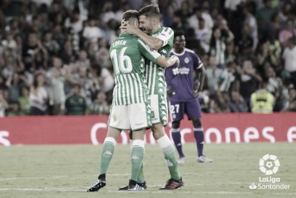 Loren y Javi García celebrando el gol / Foto: LaLiga Santander