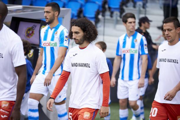 Los jugadores del Getafe mostraron su apoyo a Markel Bergara tras su nueva lesión | Fuente: LaLiga