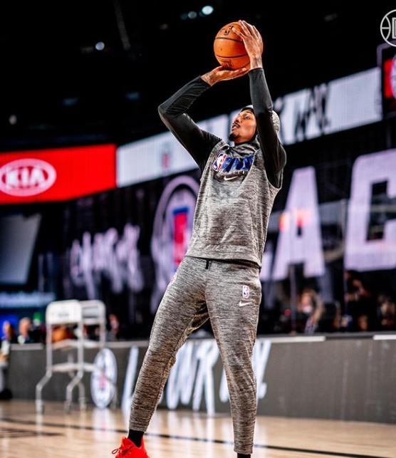 Lou Williams antes de debutar en la burbuja   Foto: LA Clippers
