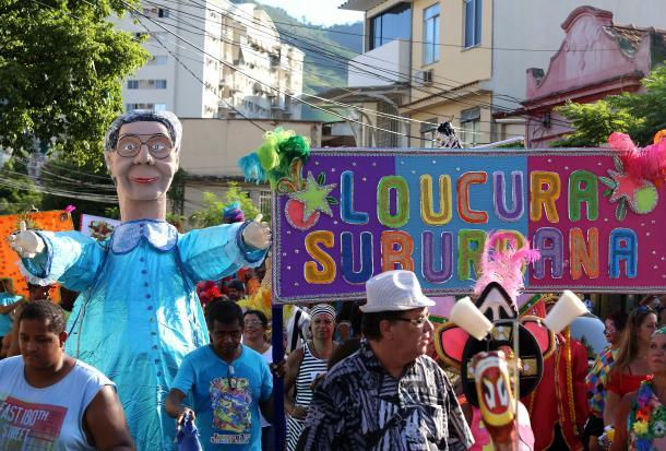 Desfile do bloco Loucura Suburbana em 2015 (Foto: Fernnando Maia/ Riotur)