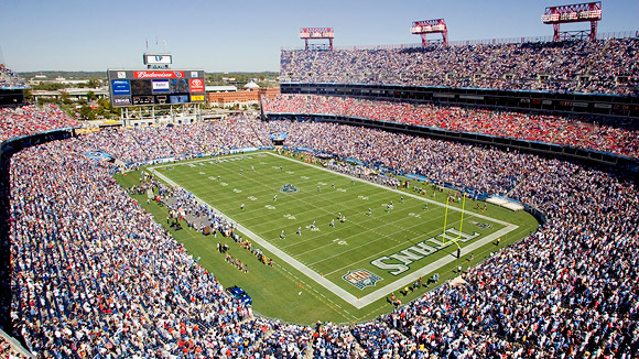 Nissan Stadium durante un partido de los Titans. Fuente. ESPN