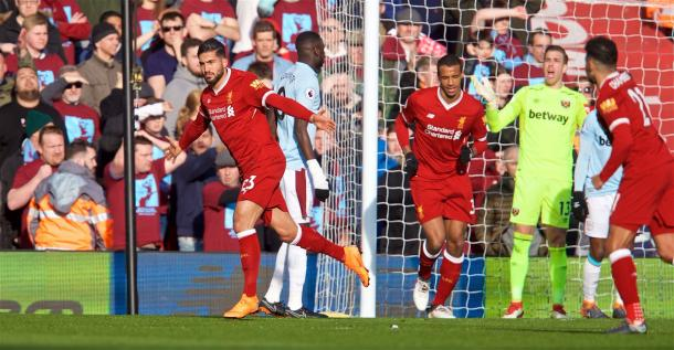 Premier League, Liverpool-West Ham 4-1, Benitez raggiunto all'89'