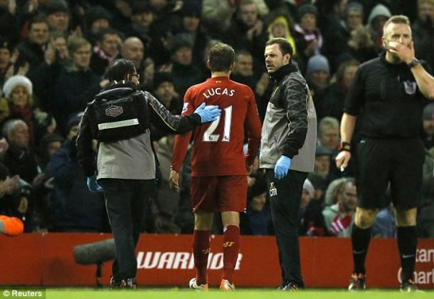 Lucas has been injured all too often with the Reds, where his development over the years - despite his quality - has been halted. | Photo: Getty