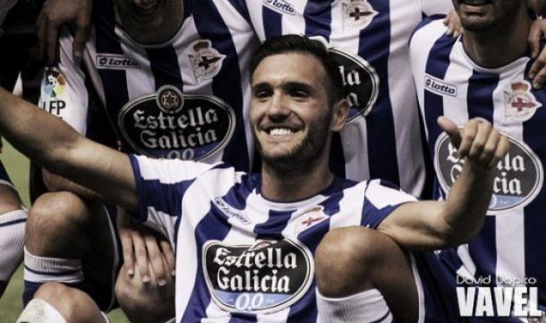 Lucas Pérez celebrando un gol | Fotografía: David Dopico