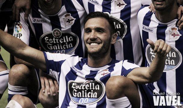 Lucas Pérez con el Deportivo de la Coruña. Fotografía: David Dopico