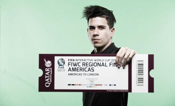 Lucasrep foi o único brasileiro a obter classicação para as eliminatórias do mundial de FIFA (Foto: Divulgação/EA Sports)