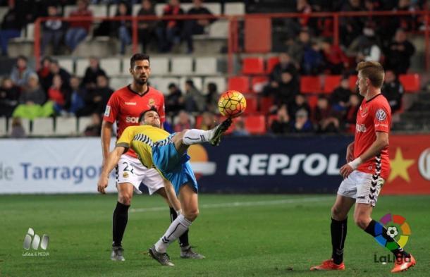El Lugo tuvo más control en la primera mitad. (Imagen: LaLiga).